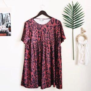 ASOS Cheetah Print T-shirt Dress